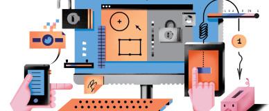 Графическое изображение взаимодействия программ и устройств