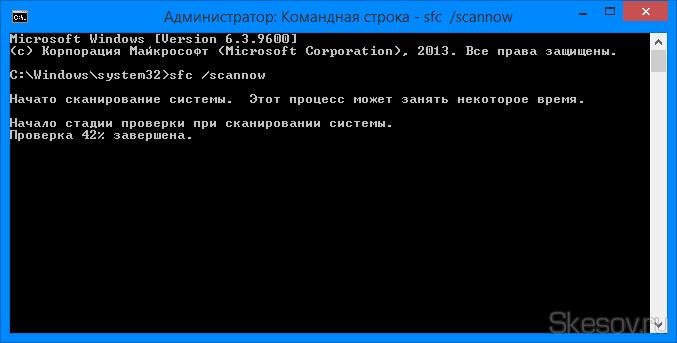 Это запустит тест проверки целостности файлов.