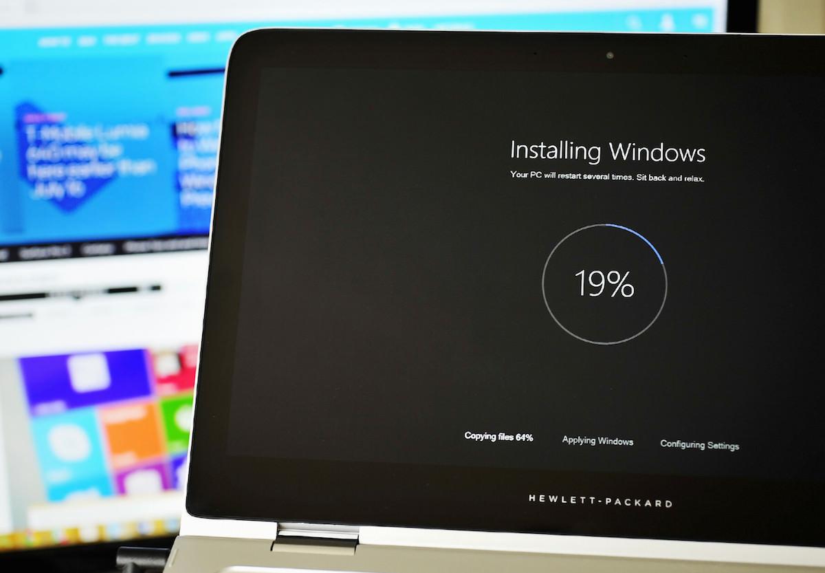 Процесс установки Windows 10