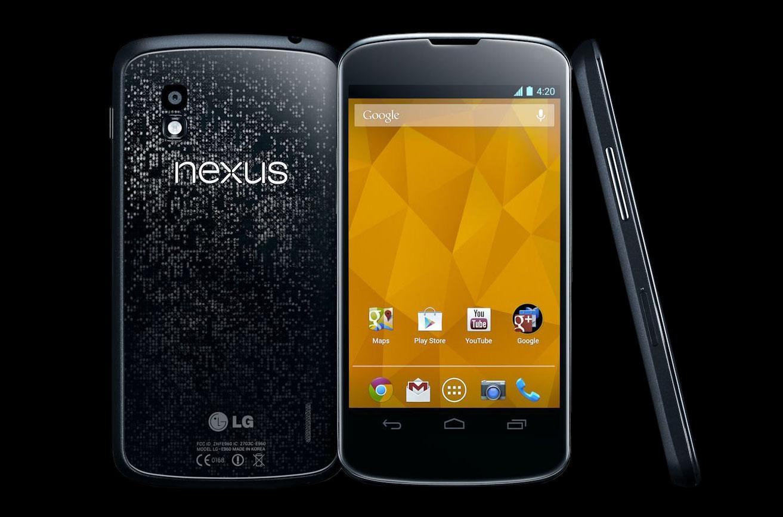 Смартфон LG Nexus 4 с трех ракурсов