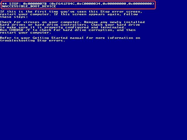 Синий экран смерти в Windows 2000