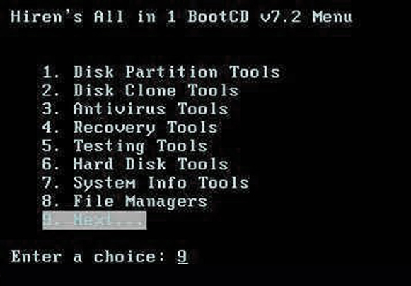Утилита Hiren's Boot CD