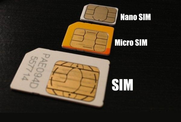 Три формата сим-карт