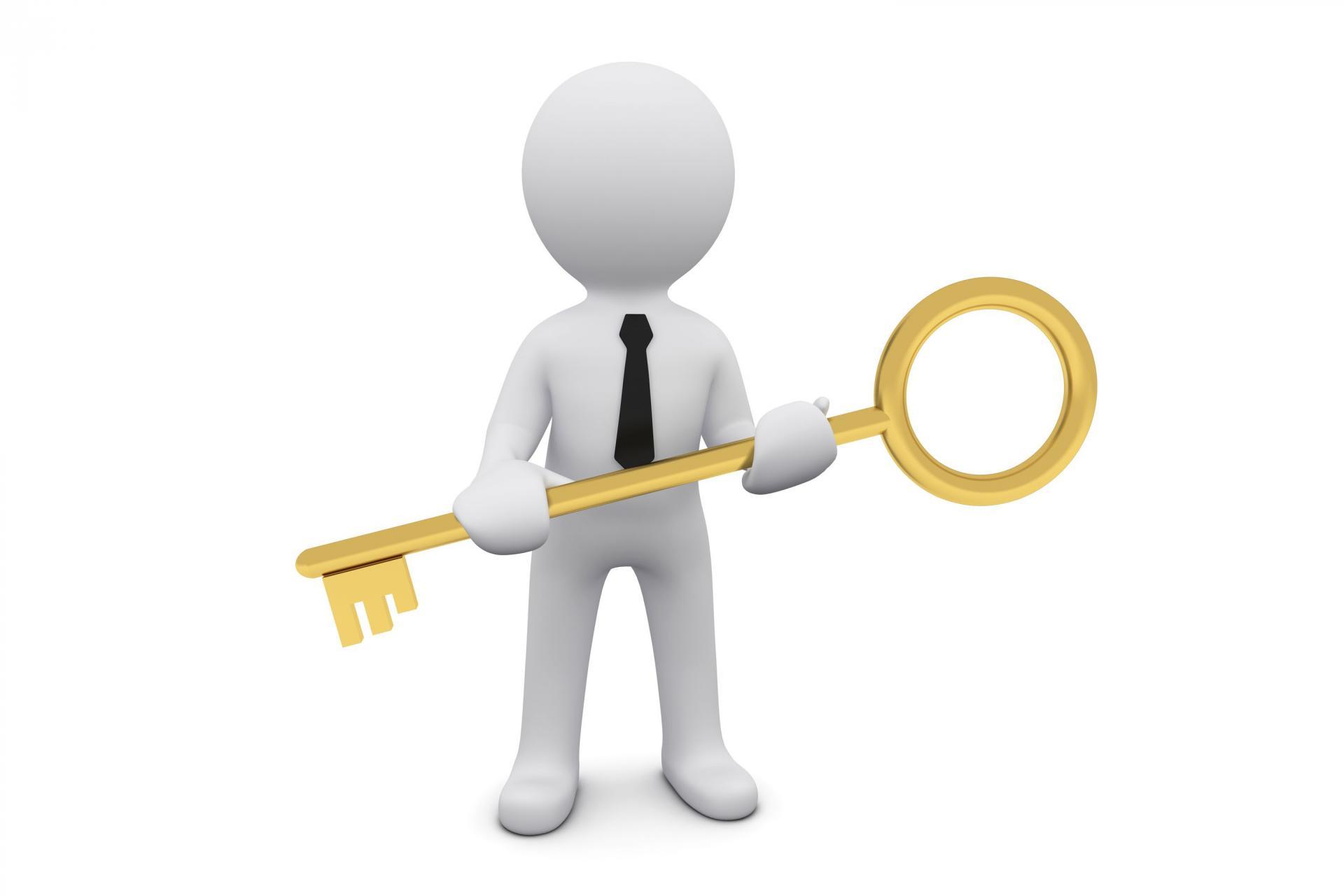 человек с ключом