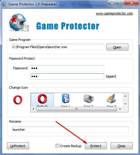 Подтверждение установки защиты