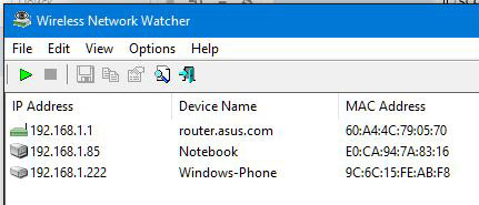 Программа Wireless Network Watcher