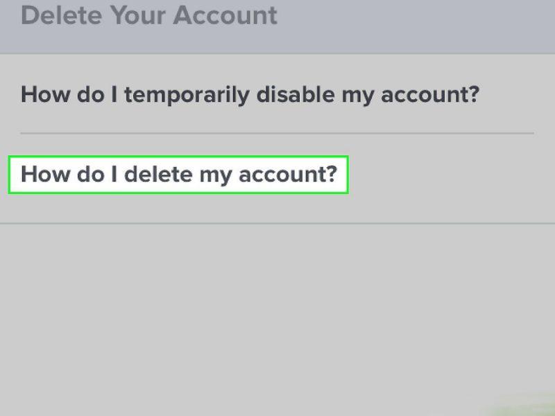 Как мне удалить мой аккаунт