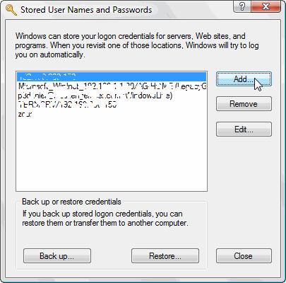 Окошко утилиты для сохранения пароля