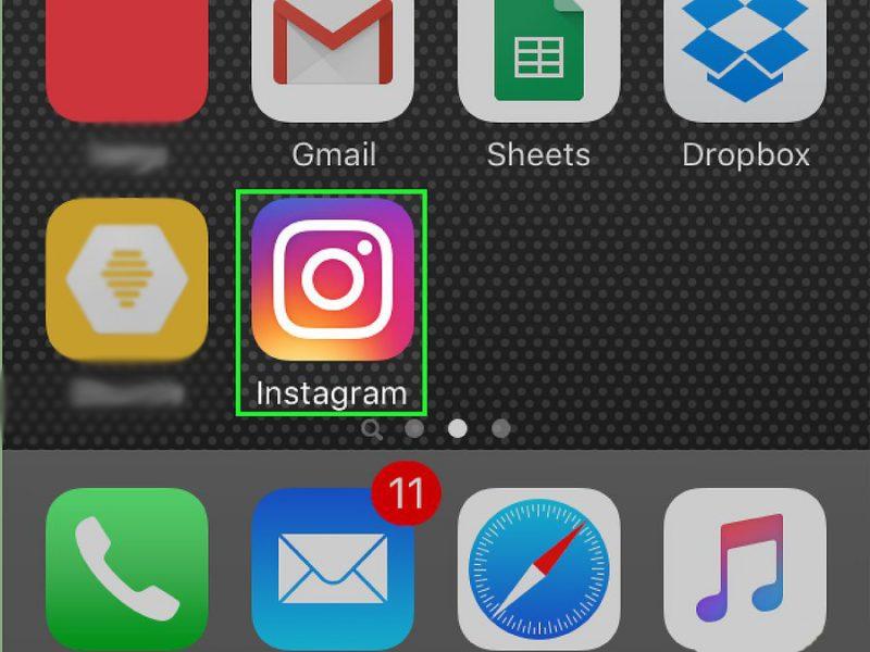 Открыть инстаграм на телефоне