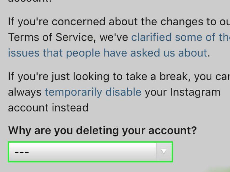 Причина удаления аккаунта инстаграм