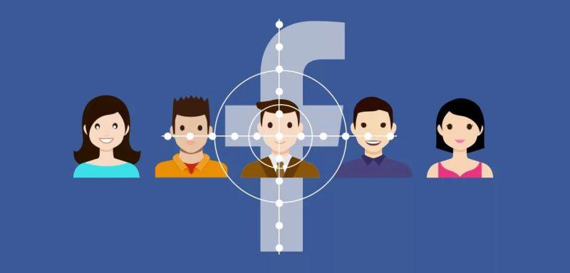 Нарисованные люди на синем фоне Facebook