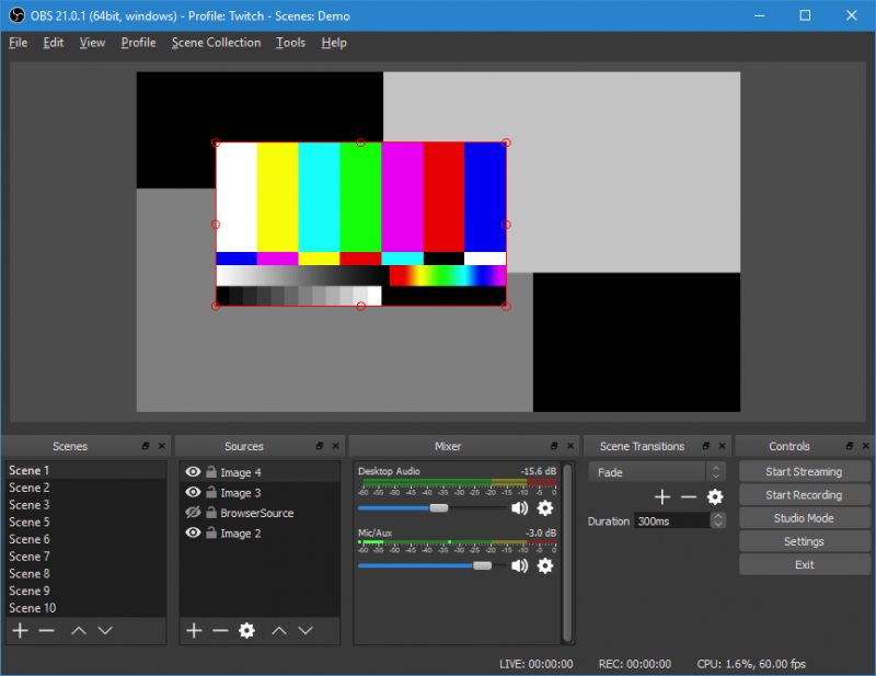 Приложение OBS Studio