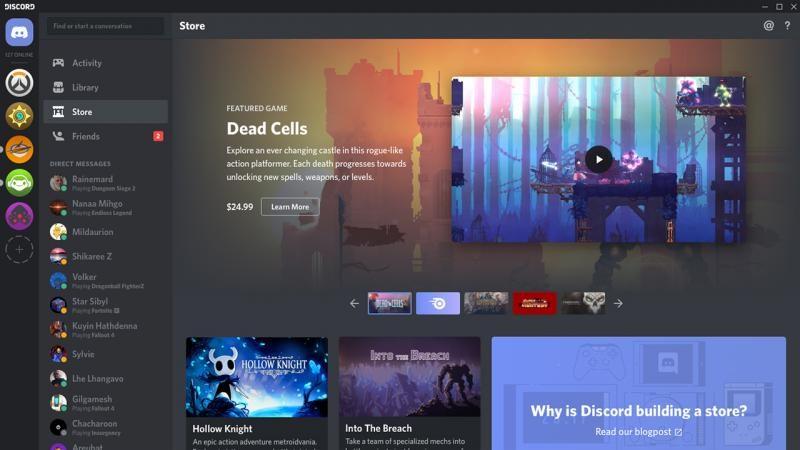 Discord запускает собственный цифровой магазин игр