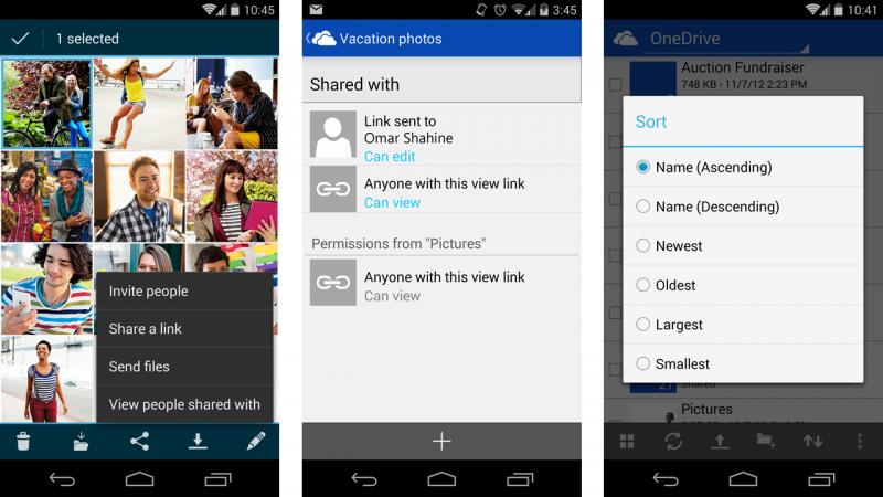 Приложение Microsoft OneDrive