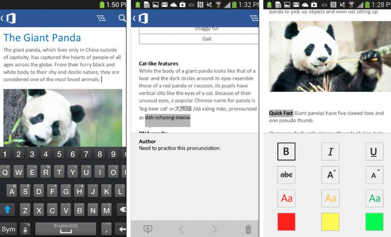 Мобильное приложение Microsoft Word