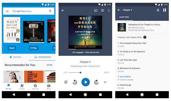Приложение Google Play книги