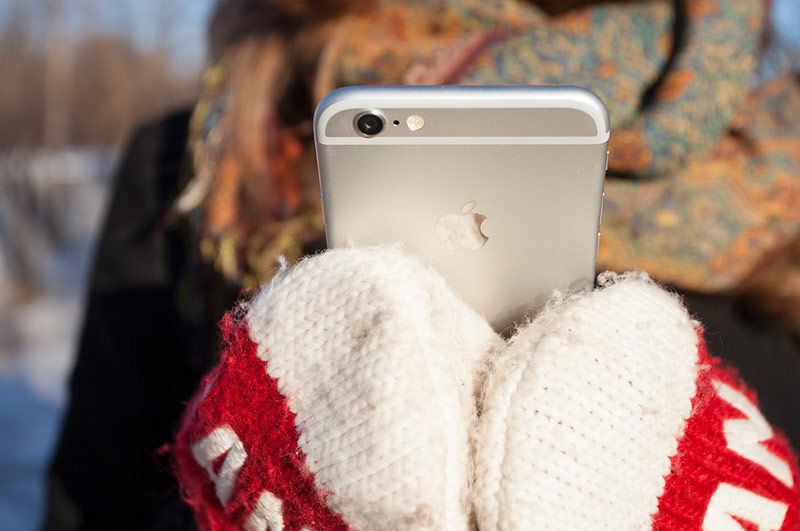 Смартфон в мороз