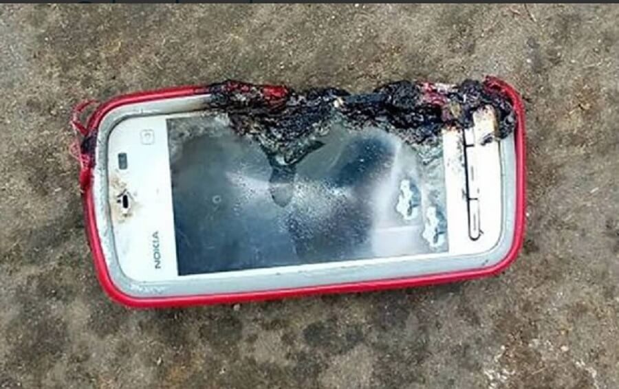 Взрыв телефона