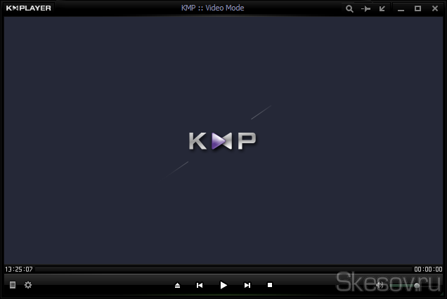 Запущенный The KMPlayer