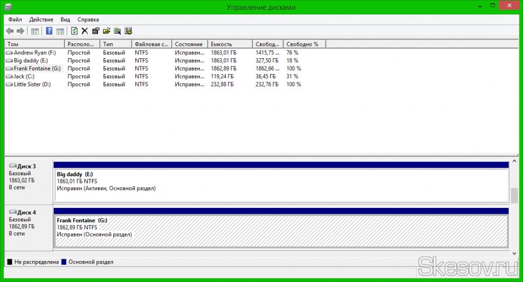 Система создаст раздел, совершит быстрое форматирование и откроет окно нового локального диска