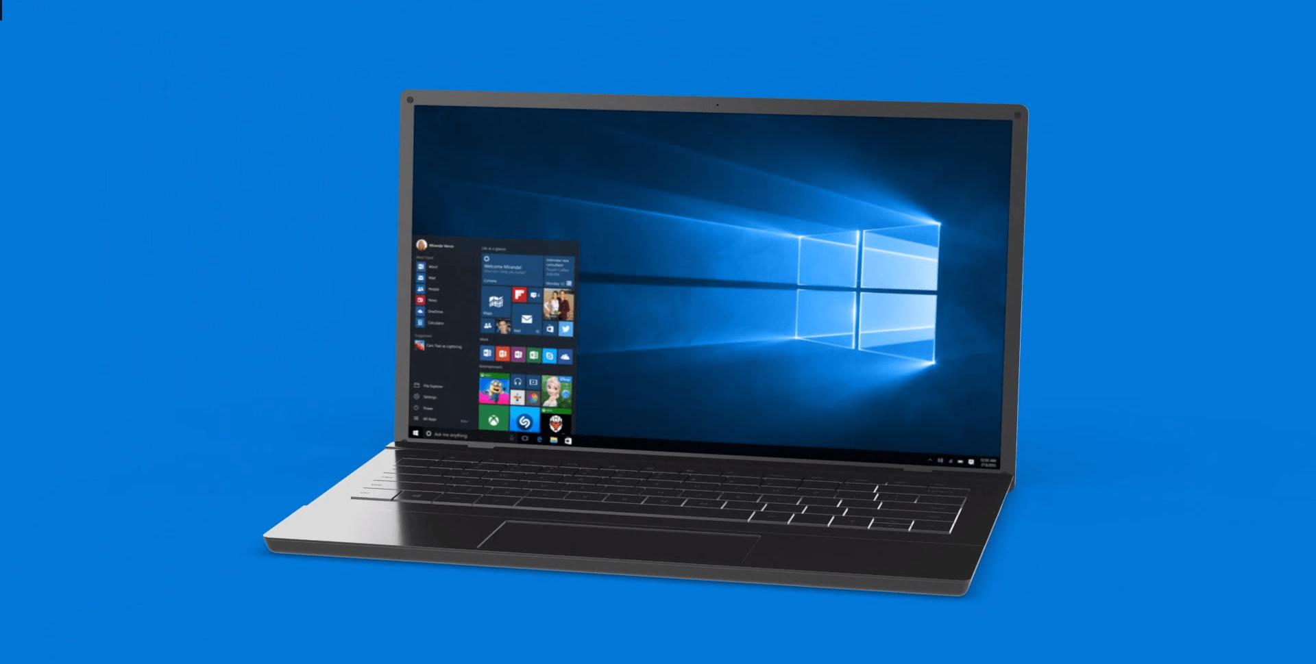 ОС Windows на ноутбуке