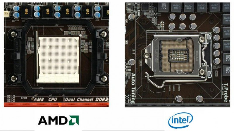 Сокеты Intel и AMD
