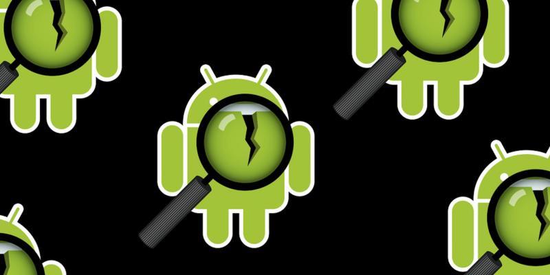 Логотип Андроид с лупой