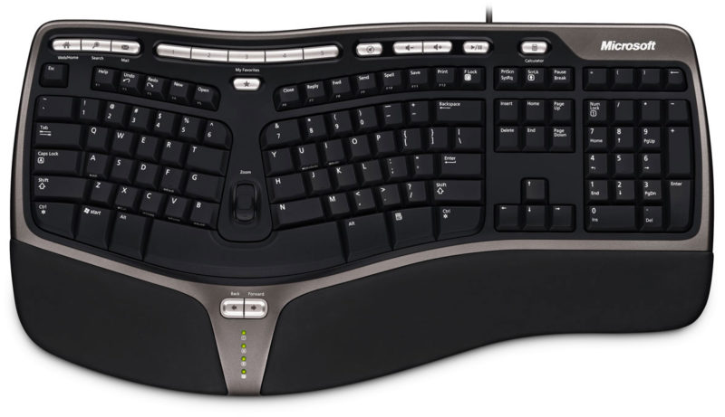 Клавиатура Microsoft с подставкой для рук