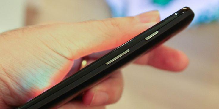 Кнопки громкости на корпусе смартфона