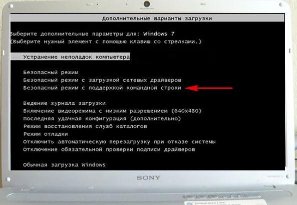 Выбор варианта запуска Windows