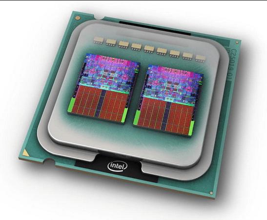 Вид двухъядерного процессора