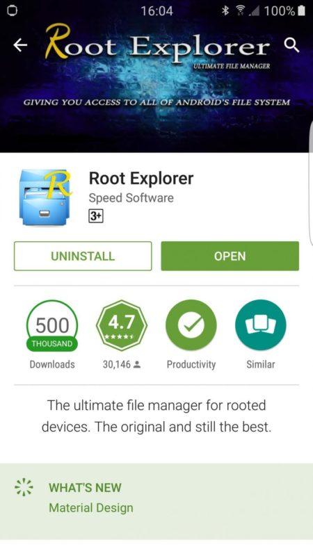 Программа Root Explorer