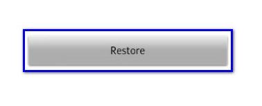 Опция Restore