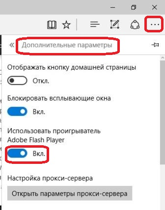 Настройка Adobe Flash
