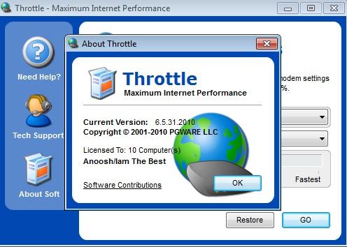 Программа throttle