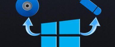 Запись образа Windows 10 на диск или флешку