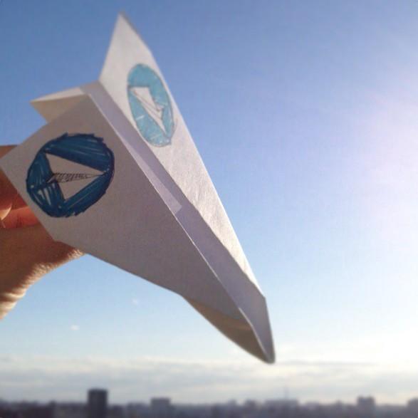 бумажный самолетик telegram